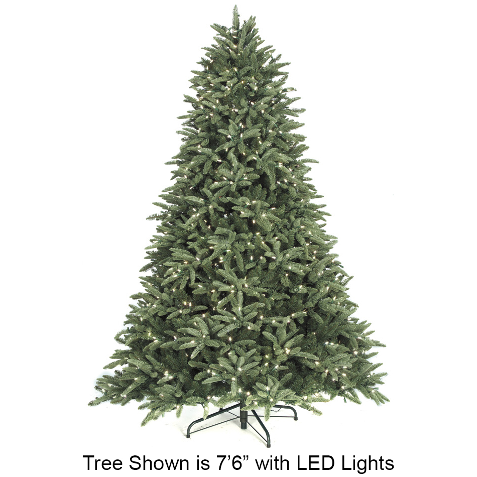 7 6 Quot Hx62 Quot W Pe Blue Mountain Spruce Led Lighted Artificial
