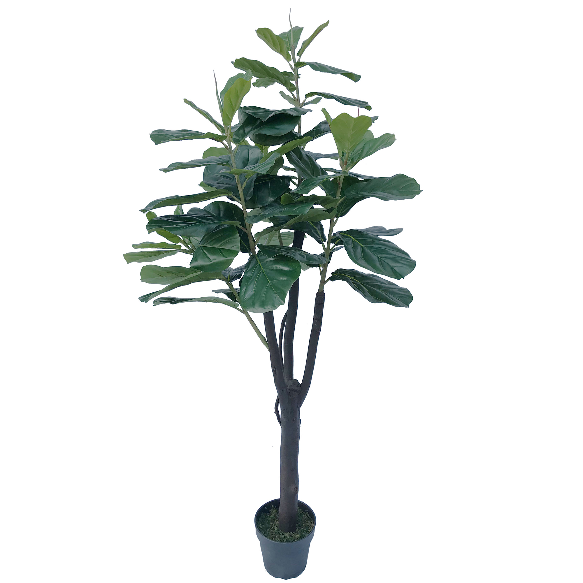 5 39 7 real touch fiddle leaf fig silk tree w pot 91 leaves green. Black Bedroom Furniture Sets. Home Design Ideas