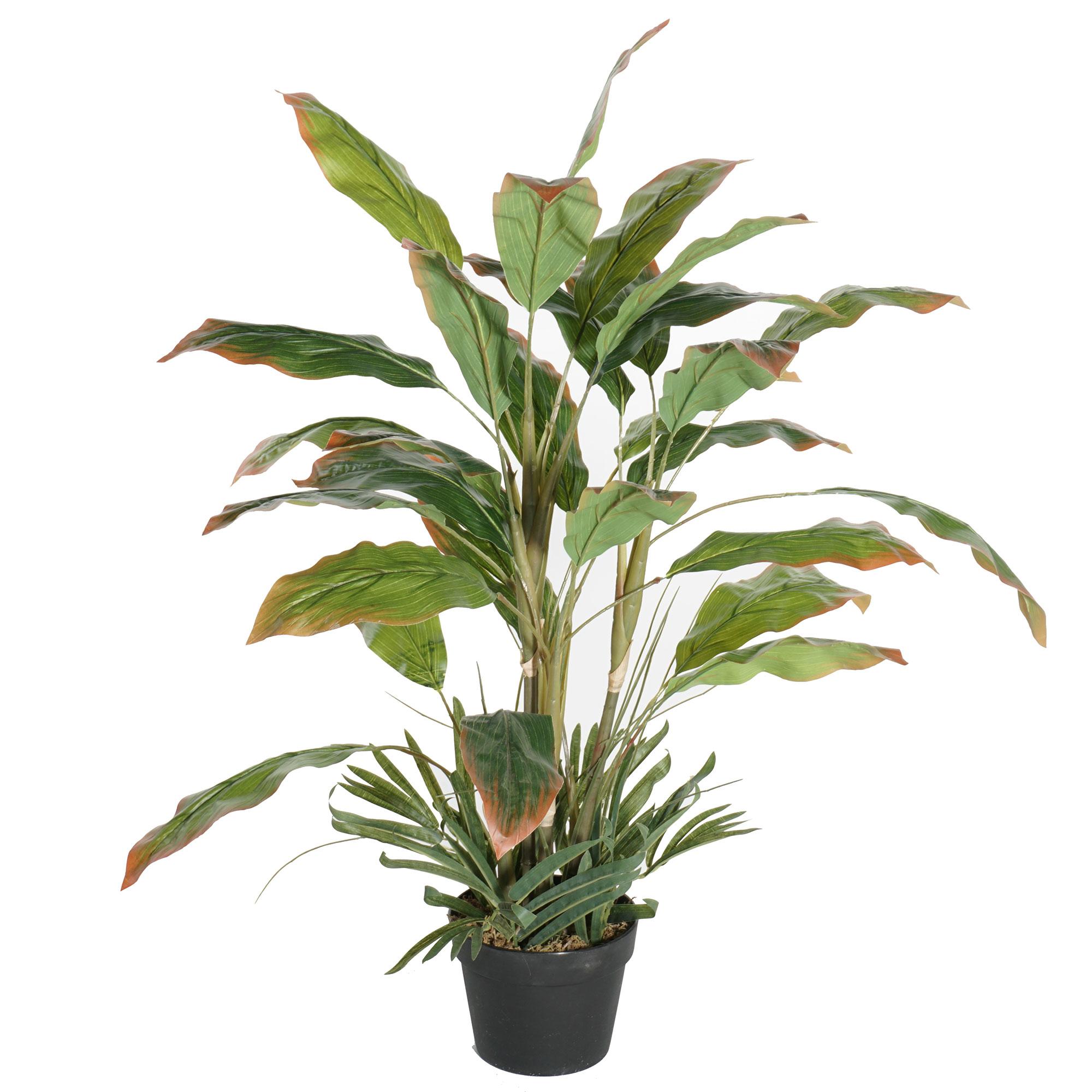40 Bird Of Paradise Greenery Silk Palm Tree W Pot Green