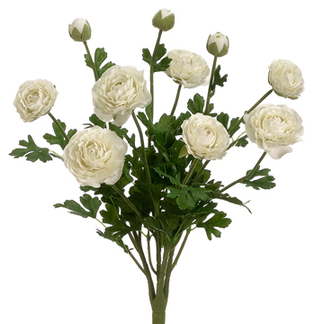 19 Quot Silk Ranunculus Flower Bush White Ranunculus Flowers