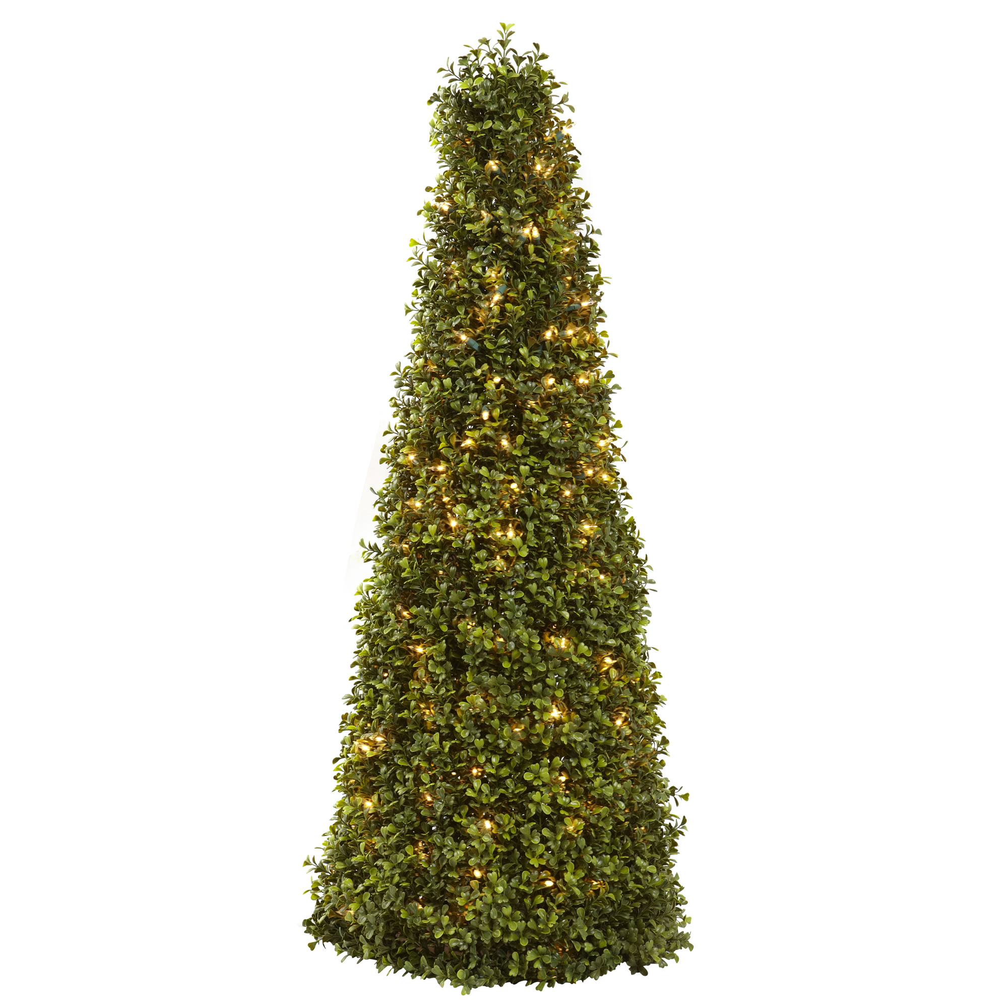 39 Quot Boxwood Cone Shaped Lighted Artificial Topiary Tree